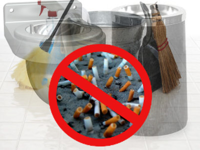 Remove Cigarette Butts from Ash Urns - Change Sand As Needed